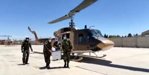 جابهجایی صندوقهای رأی در مناطق صعبالعبور توسط بالگردهای هوانیروز کرمان
