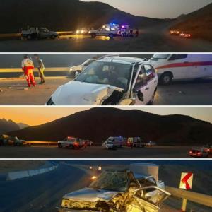 ۶ مصدوم در تصادف جاده سمنان - فیروزکوه