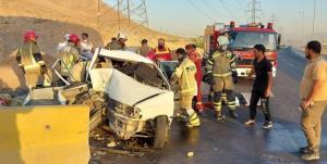 مصدومیت ۷ مسافر به دلیل تصادف پراید در بزرگراه شهید رستگاری