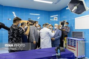 عکس/ افتتاح بیمارستانی در شهر مرزی گلستان با حضور نمکی و فتاح