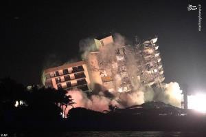 عکس/ باقی مانده برج مسکونی فلوریدا کاملا فرو ریخت