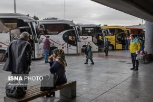هجوم مسافران به اتوبوس های بینشهری