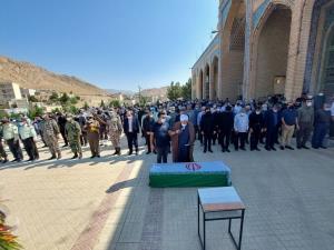 پیکر امیر سرتیپ جوادیان در مهدیشهر تشییع و به خاک سپرده شد