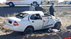 واژگونی خودرو در جاده سبزوار - میامی با یک کشته