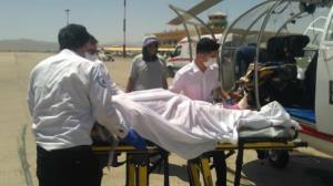 پرواز بالگرد اورژانس هوایی برای نجات پسر بچه ۱۲ ساله