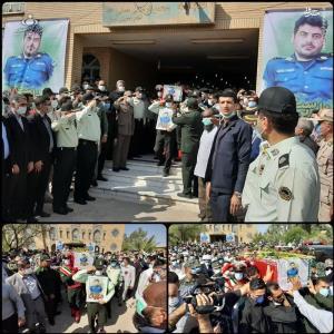 عکس/ تشییع شهید ضرغام پرست در بندر ماهشهر