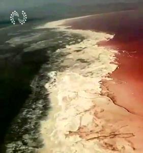تصاویر هوایی از حال ناخوش دریاچه ارومیه