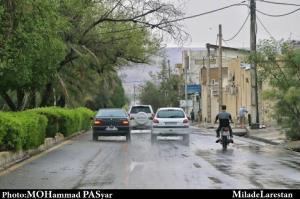 وقوع بارش رگباری در شهر لار