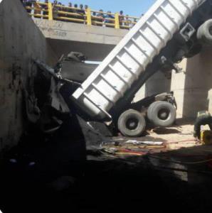 مرگ راننده جوان بر اثر سقوط از پل در فهرج