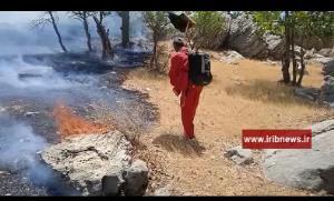 آتشسوزی در ارتفاعات روستای چهارده ایذه