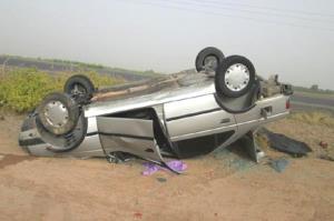 کودک خوروبیابانکی قربانی واژگونی خودرو در محور خور
