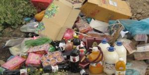 جمعآوری یک تن مواد غذایی فاسد و تاریخ گذشته در گچساران