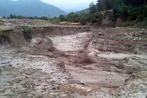 وقوع سیل و تخریب پل در چالدران
