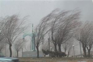پیشبینی وزش باد شدید و گردوخاک در استان یزد