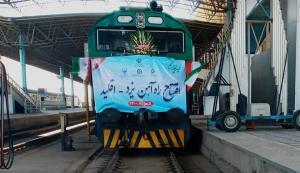 خط ریلی راهآهن یزد-اقلید به طول ۲۷۰ کیلومتر به بهرهبرداری رسید