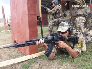 عکس/ تمرینات تیم یگان ویژه فاتحین برای مسابقات نظامی روسیه