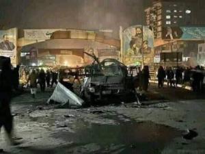 تصویر یکی از خودروهای بمب گذاری شده در کابل