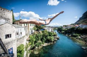 مسابقات جهانی شیرجه از صخره در موستار بوسنی و هرزگوین