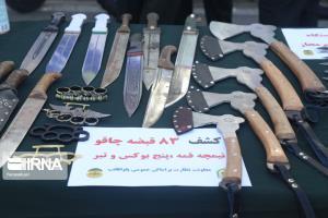 عکس/ کشف سلاح سرد تبر از اراذل و اوباش!
