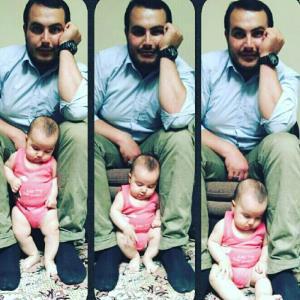 عکس/ یادگاری پدر و پسری یکی از شهدای خان طومان