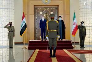 عکس/ استقبال رسمی رئیسی از نخست وزیر عراق