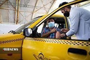 آغاز واکسیناسیون رانندگان تاکسی اینترنتی در همدان