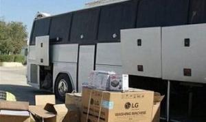 کشف ۴۹۶ ثوب لباس و ۵۷۷ بطری نوشیدنی خارجی قاچاق از یک اتوبوس