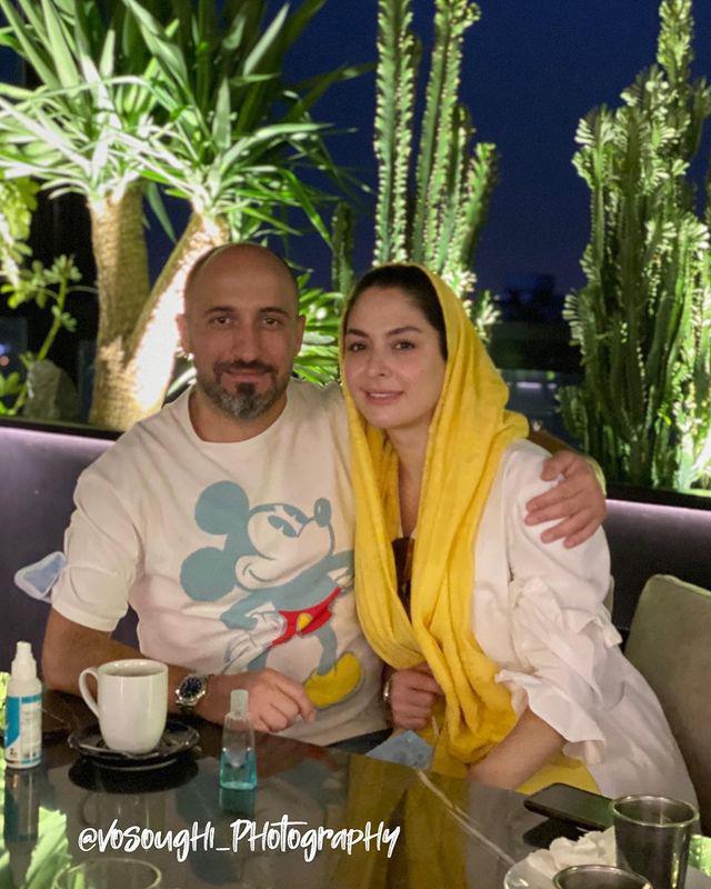 چهرهها/ قاب دونفره مارال بني آدم و همسرش