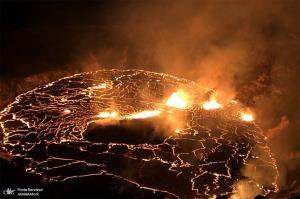 فوران مداوم آتشفشان در جزیره هاوایی
