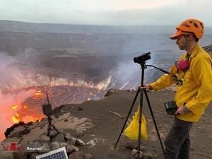 عکاسی از دهانه آتشفشان «کیلائوا» در جزایر هاوایی