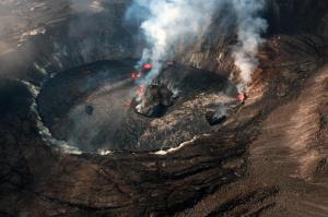 نمایی از دهانه آتشفشان کیلاویا در هاوایی