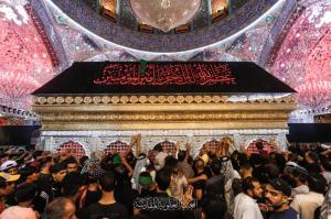 عکس/ حال و هوای حرم امیرالمومنین علی(ع) در سالروز رحلت پیامبر(ص)