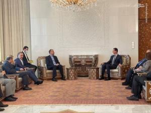 عکس/ دیدار وزیر امور خارجه ایران با بشار اسد