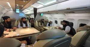 جلسه اعضای طالبان در قسمت فرست کلاس هواپیما!