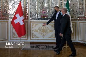عکس/ دیدار وزیر خارجه با رئیس مجلس سوییس