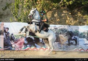 مسابقه پرش با اسب به مناسبت هفته نیروی انتظامی