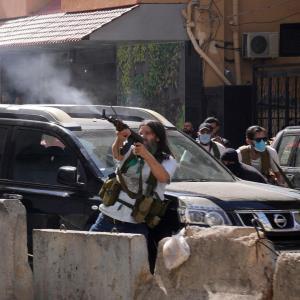 درگیری و تیراندازی در خیابانهای بیروت