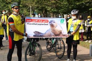 اقدام دوچرخه سواران گیلانی ناجی فک کاسپین مورد اقبال مردم