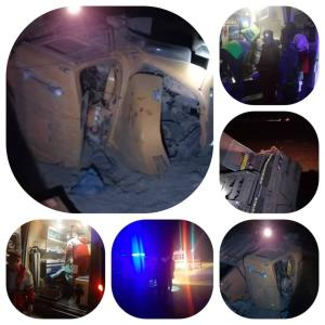 سقوط خودروی سنگین در دره مسیر سمنان - مازندران