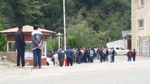 تجمع دوباره کارگران سد شفارود رضوانشهر