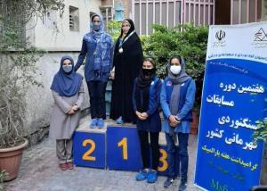 سنگنورد زن قزوینی قهرمان مسابقات پاراکلایمینگ کشور شد