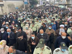 تشییع پیکر پاک شهیدان مدافع امنیت در لنگرود