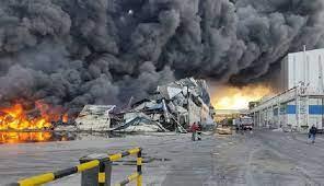 آتش در انبار علوفههای گاوداری سلطانآباد از توابع کنگاور