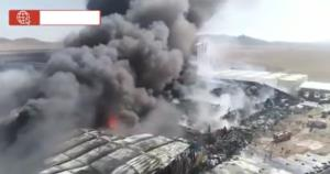 تصاویر هوایی از آتشسوزی شرکت «طبیعت» در زرندیه