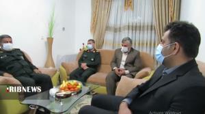 دیدار فرمانده سپاه کردستان با خانواده شهدا در سنندج