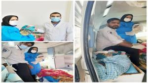 تولد نوزاد عجول میرجاوهای در آمبولانس