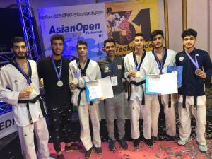 درخشش تکواندوکاران مازندرانی در مسابقات آسیایی