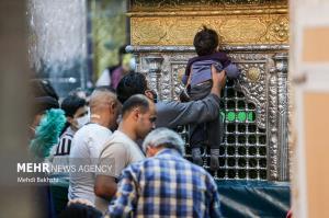 عکس/ دسترسی زائران به ضریح حضرت معصومه(س)