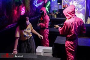 تصاویر بازی Squid Game در کافه جاکارتا اندونزی