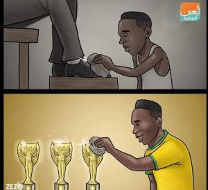 کاریکاتور/ اسطوره فوتبال از کجا به کجا رسید!
